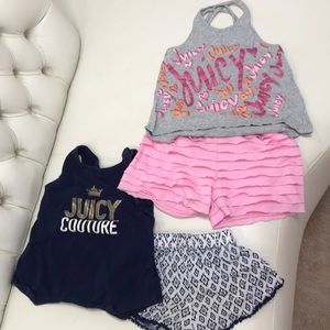 Girls Juicy couture sets. Two sets. Size 6x and 7.